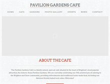 Tablet Preview of paviliongardenscafe.co.uk